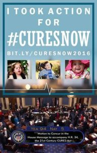 #CuresNow has passed!  21st Century Cures Act