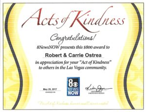 LMHF Founders Awarded Las Vegas Acts of Kindness Award