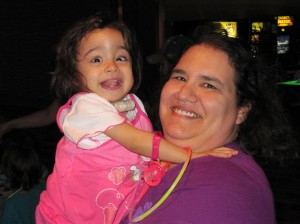 Little Miss Hannah and her mom, Carrie Ostrea