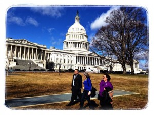Ostrea and Hempel Families on Capital Hill