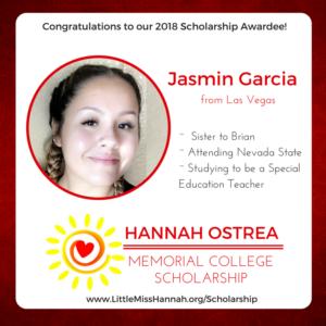 2018 Scholarship Winner Essay – Jasmin Garcia