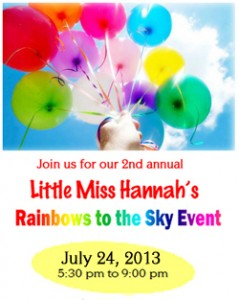 Little Miss Hannah's Rainbows in the Wind Event
