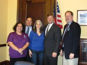 Dean Heller meeting with Little Miss Hannah Foundation, Carrie and Robert Ostrea, Chris and Hugh Hempel